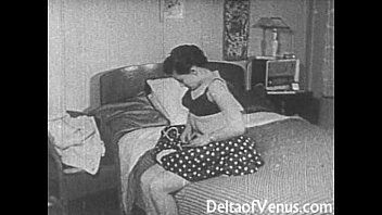Vintage porn 1950s - hairless pussy, voyeur fuck
