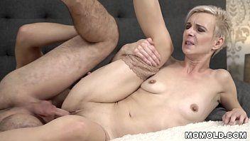 Youthful penis filled older cum-hole