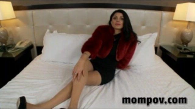 Hawt older milf in red yiff coat having porn for the 1st time
