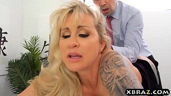 Milf boss craves large wang employee to fuck her rectal hole
