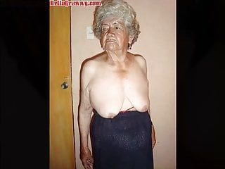 Hellogranny unexpected stripped latin granny photos