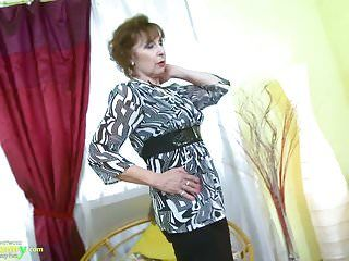 Oldnanny hawt excited grandma seductive striptease