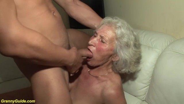Granny in her 1st porn movie