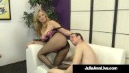 Potty throat milf julia ann gives her man toy orders acquires calves screwed
