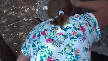 Real fuck golden-haired aged mama outdoor bbw gazoo web doggy pants pov cum public