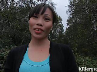 Cum loving oriental milf likes to go dogging