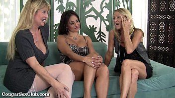 Three stacked slutty milfs love being lascivious jointly
