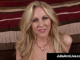 Obscene talking milf julia ann sucks your hard soaked weenie pov