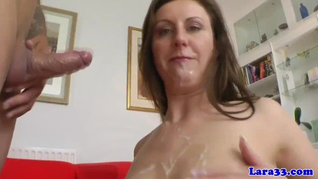 English milf likes youthful men semen in face hole
