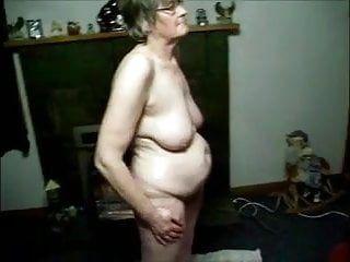 Granny filmed naked