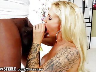 Ryan conner opens her butt for massive ebon schlong