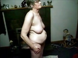 Granny filmed exposed