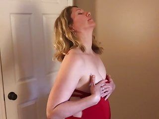 Milf in red suit drilled pov