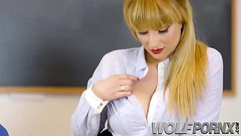 My teacher a sexually excited breasty seduces me and gives me a priceless blowjobeacher-school two