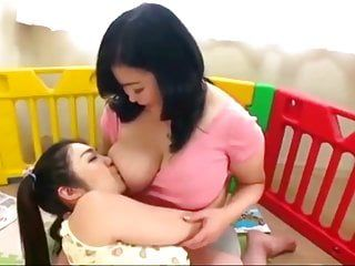 Thick japanese milf with giant zeppelins breastfeeds favourable hotty