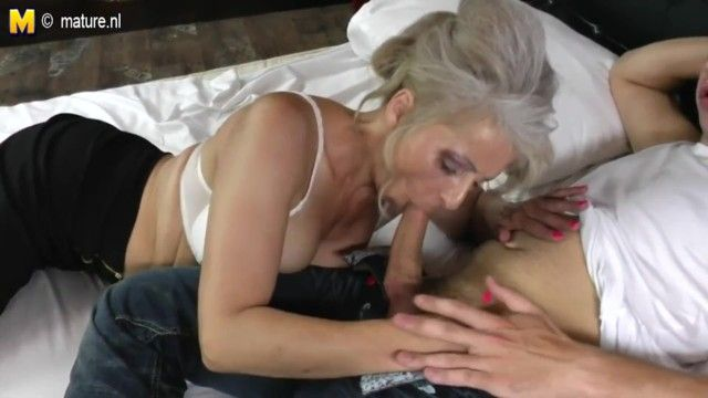 Ger: hirsute grandma hard drilled by youthful paramour