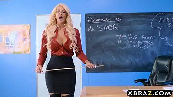 Immens curves teacher golden-haired bonks her student in class