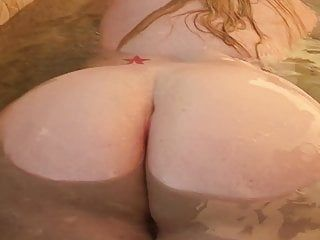 My sexy bbw wife plump a-hole in slo-mo