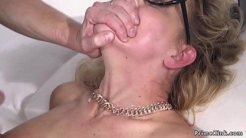 Milf in servitude anal pumped and cummed