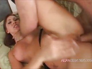 Lustful milf takes 2 cumshots in her anal opening