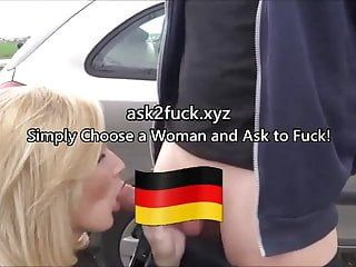 Cheating german milf screwed outdoors